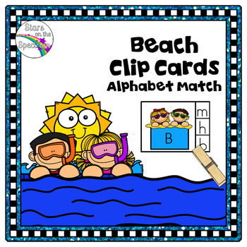 Summer Alphabet Matching Clip Cards Beach
