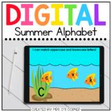 Summer Alphabet Matching Digital Activity | Distance Learning