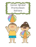 Summer Alphabet Practice Beach Ball Game