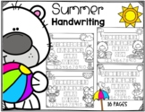 Summer Alphabet Tracing