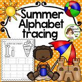 Summer Alphabet Tracing pages