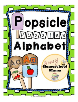 Summer Alphabet and Phonics Puzzles - Popsicle Shaped