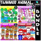 Summer Animal Pals Clip Art Bundle {Educlips Clipart}