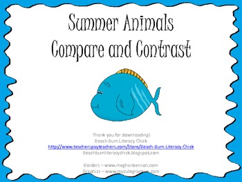 Summer Animals - Compare and Contrast