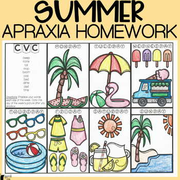 Summer Apraxia Homework