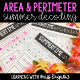 Summer Area and Perimeter Decoder Activity for End of the Year