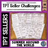 Summer Around the World TPT Seller Challenges