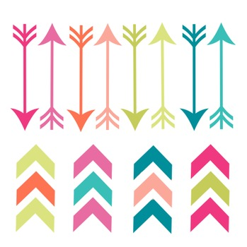 Summer Arrows Clipart, Summer, Arrows, Set #203