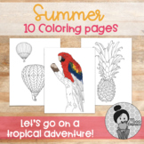 Summer Art Activities (10 Coloring pages)