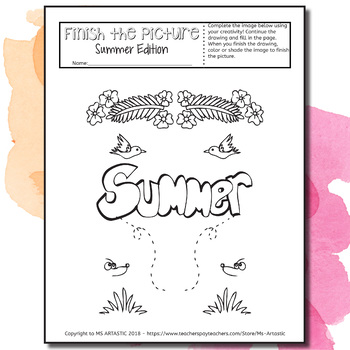 Summer Art Activity: Finish the Picture!