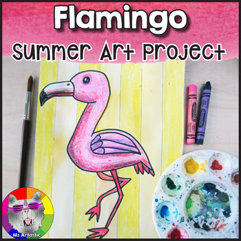 Summer Art Project, Flamingo