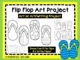 Summer Art Project, Flip Flop Cut and Color - Spring Art