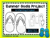Summer Art Project, Flip Flop Summer Goals Cut and Color - End of Year Art