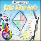 Summer Art Project, Kite Line Art