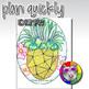 Summer Art Project, Pineapple Line Art