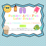 Summer Artic Fun: Later Sounds (r,s,l,r blends,s blends,l blends)