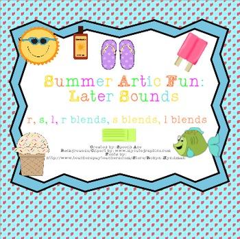 Summer Artic Fun: Later Sounds (r,s,l,r blends,s blends,l blends)