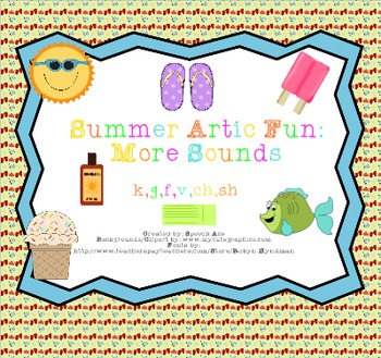 Summer Artic Fun: More Sounds (k,g,f,v,sh,ch)