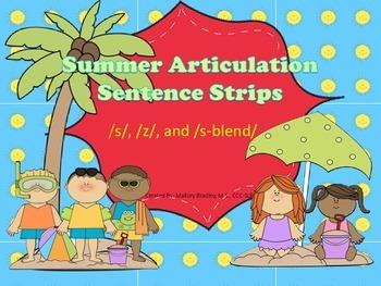 s, z, s-blends Summer Artic/Language Sentences & Activitie