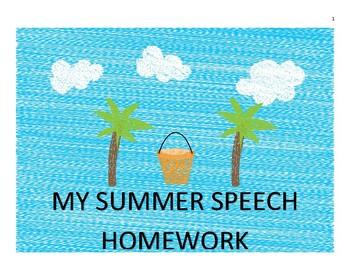 Summer Articulation Homework for /s/