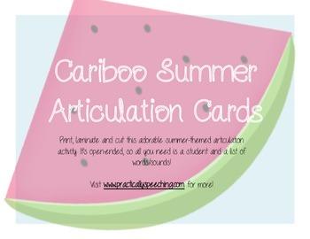 Summer Articulation Cariboo Card FREEBIE