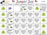 Summer Articulation Carryover Calendar for /r/