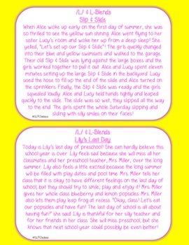 Summer Articulation Carryover Paragraphs (L & L-Blends)