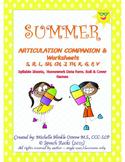 Summer Articulation Companion & Worksheets