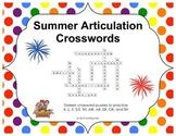 Summer Articulation Crosswords