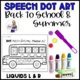 Summer Articulation Dot Art: Gliding of Liquids (/L/ and /R/ Phonemes)