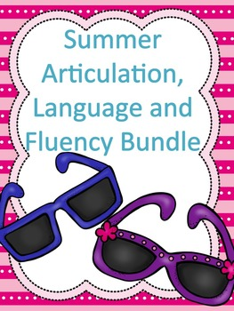 Summer Articulation, Language and Fluency Homework