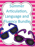 Summer Articulation, Language and Fluency Homework