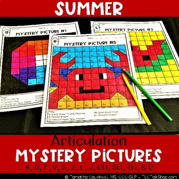 Summer: Articulation Mystery Pictures
