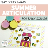 Summer Articulation Play Dough Mats