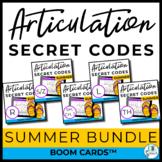 Summer Articulation Secret Codes BOOM Cards BUNDLE | Speec