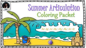Summer Articulation Sound Packet: k, g, l, r, s, sh, ch, th