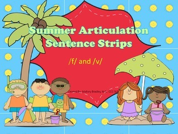 /f/ and /v/ Summer Artic/Language Sentences & Activities for Speech Therapy