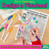 Summer Arts and Crafts: Pinwheel Art Game, Art Sub Plans, & Writing Prompts