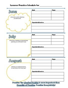 Summer Assignment Sheet