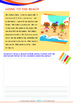 Summer - At The Beach - Grade 1 (with 'Triple-Track Writing Lines')