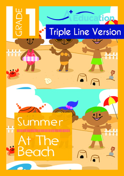 Summer - At The Beach - Grade 1 (with 'Triple-Track Writin