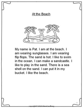 Summer: At the Beach Fluency Activities