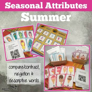Attributes Game: Summer Compare/Contrast (includes a Cariboo option!)