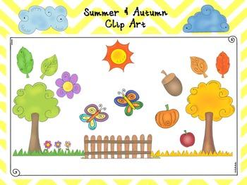 Summer & Autumn Clip Art