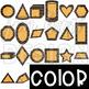 Summer BBQ  2D & 3D Cheeseburger Shapes Clip Art {jen hart Clip Art}