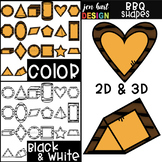 Summer BBQ  2D & 3D Cheeseburger Shapes Clip Art {jen hart