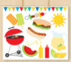 Summer BBQ, Barbecue Clipart, SVG
