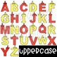Alphabet Letters Clip Art - Ketchup and Mustard Letters {jen hart Clip Art)