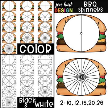 Summer BBQ Spinner Clip Art: Cheeseburgers {jen hart Clip Art}