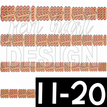 Summer BBQ Tally Marks (1-20) Clip Art: Hot Dogs {jen hart Clip Art}